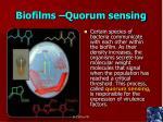 biofilms quorum sensing