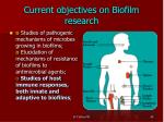 current objectives on biofilm research2