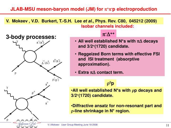 JLAB-MSU meson-baryon model (JM) for