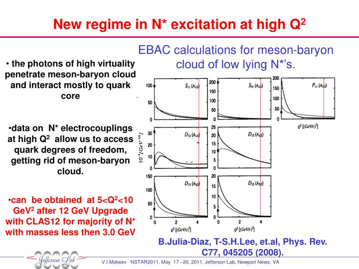New regime in N* excitation at high Q