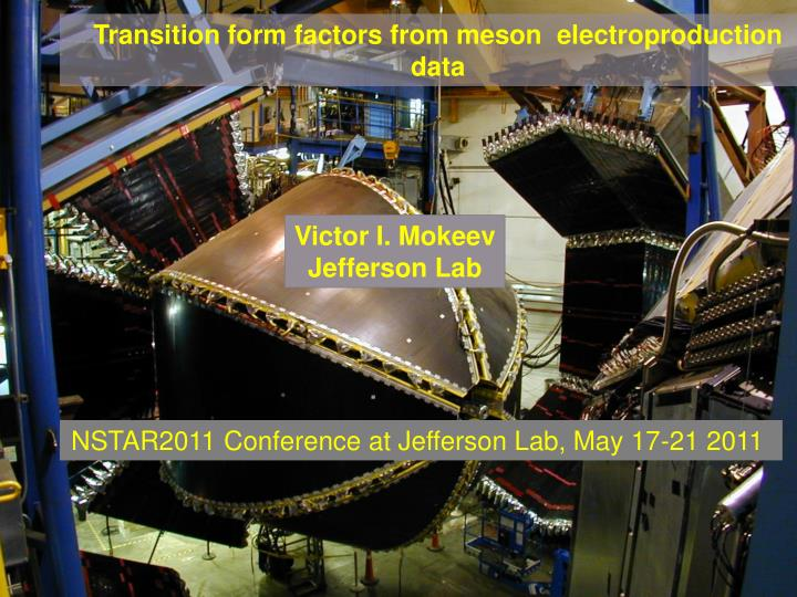 Transition form factors from meson