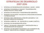 estrategias de desarrollo 2007 2016