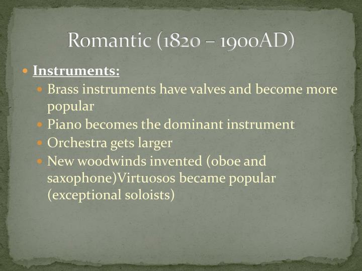 american romanticism 1820 1900