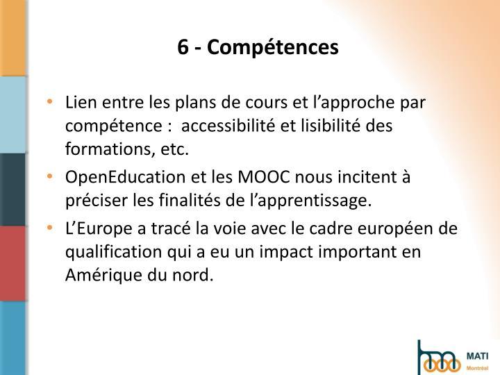 6 - Compétences