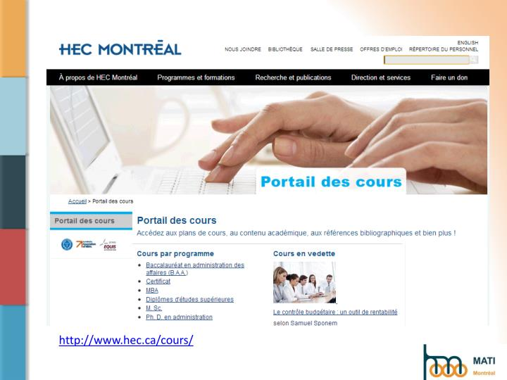 http://www.hec.ca/cours/