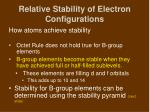 relative stability of electron configurations1