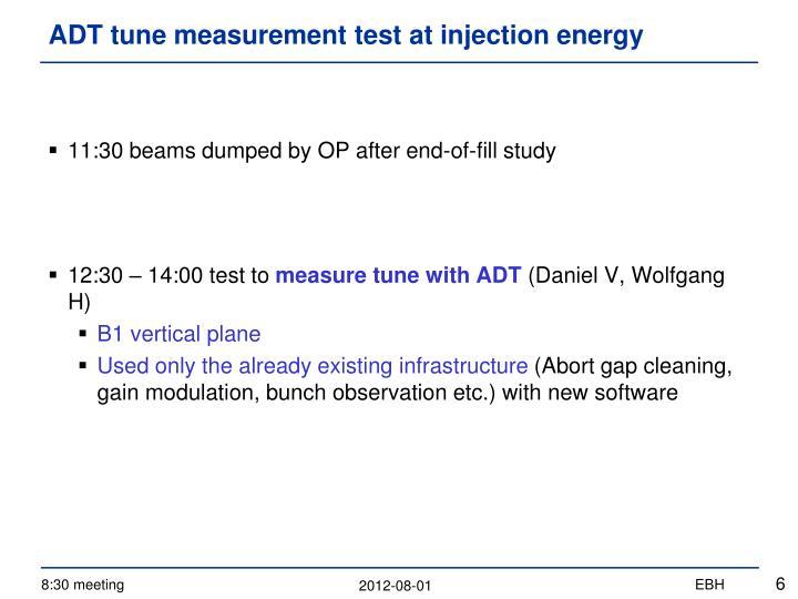 ADT tune measurement