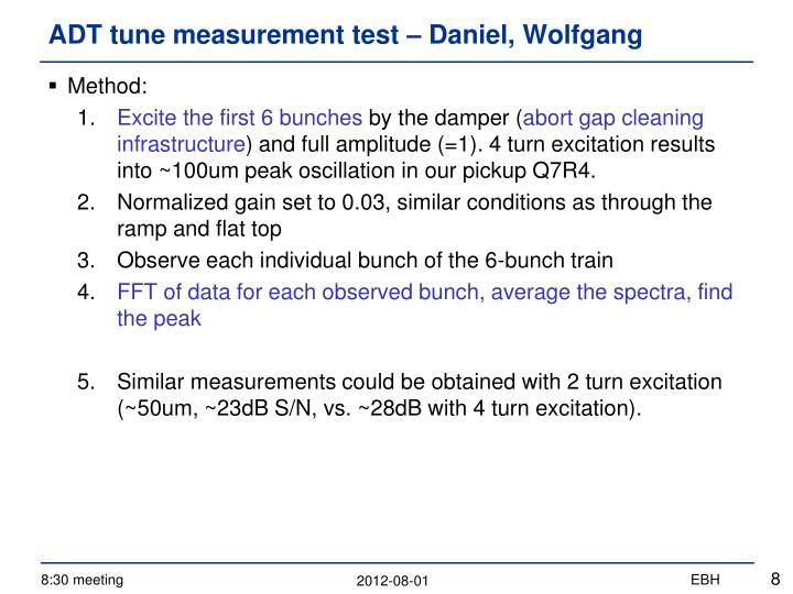 ADT tune measurement test –