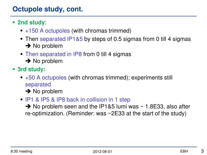 Octupole study cont1