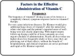 factors in the effective administration of vitamin c12
