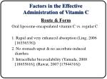 factors in the effective administration of vitamin c5