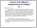 factors in the effective administration of vitamin c9
