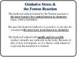 oxidative stress the fenton reaction1