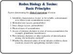 redox biology toxins basic principles