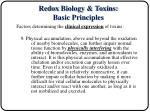 redox biology toxins basic principles2