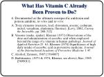 what has vitamin c already been proven to do12