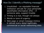 how do i identify a phishing message