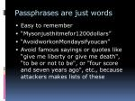 passphrases are just words