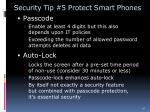 security tip 5 protect smart phones