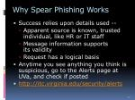 why spear phishing works