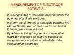 measurement of electrode potential