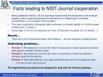 facts leading to nist journal cooperation