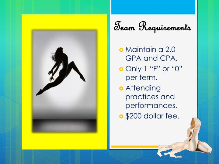 Maintain a 2.0 GPA and CPA.