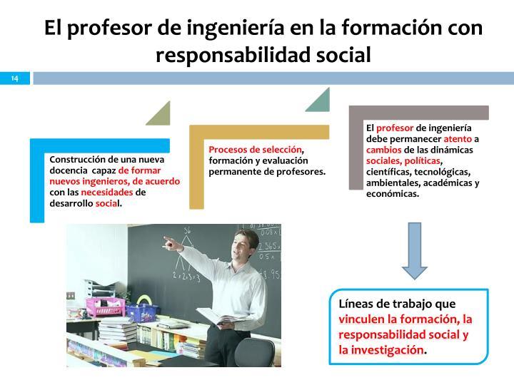 El profesor de ingeniería en la formación con responsabilidad social
