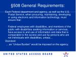 508 general requirements