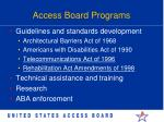 access board programs