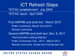 ict refresh steps