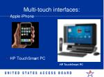 multi touch interfaces