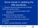 some trends in updating the 508 standards