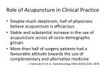 role of acupuncture in clinical practice