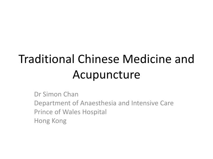 traditional chinese medicine and acupuncture n.