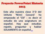 proyecto powerpoint historia 2013