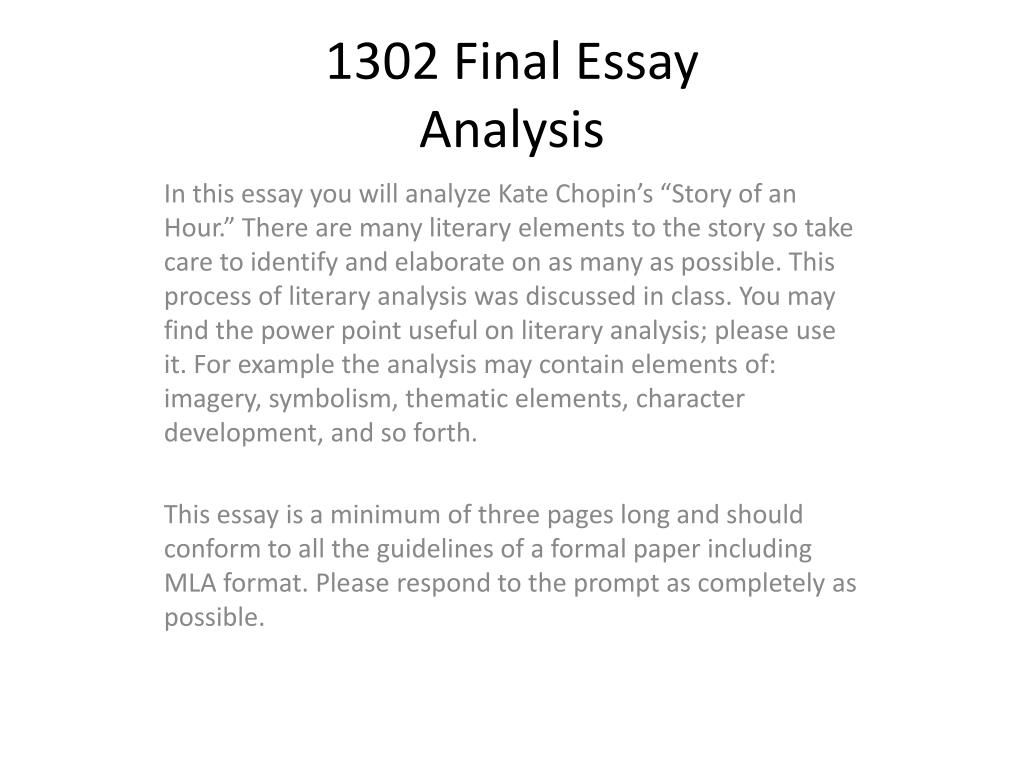 writing a literary analysis paper powerpoint