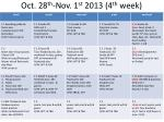oct 28 th nov 1 st 2013 4 th week