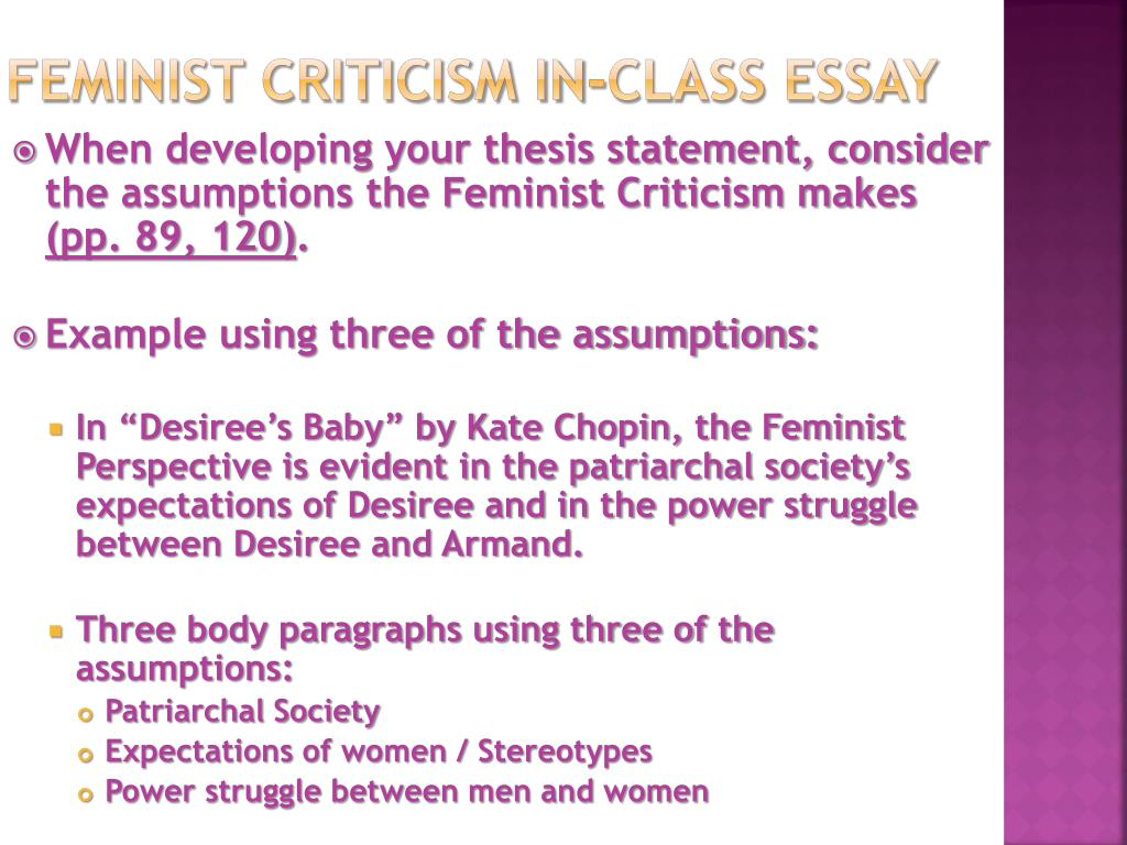 Feminism In The Chaser - Words | Bartleby