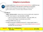 obligation et proc dures