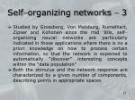 self organizing networks 3