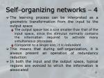 self organizing networks 4
