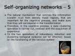 self organizing networks 5
