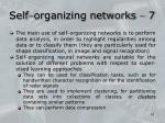 self organizing networks 7
