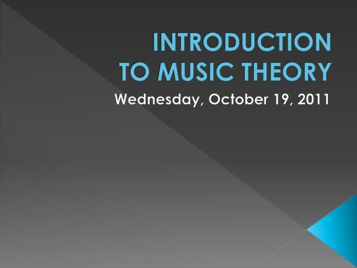 introduction to music theory n.