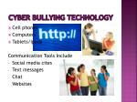 cyber bullying technology