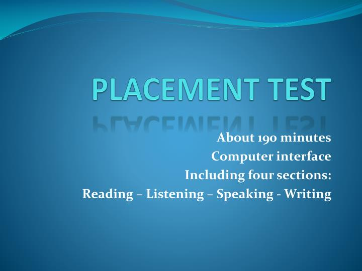 placement test n.