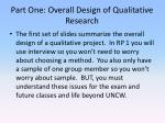 part one overall design of qualitative research