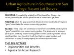urban agriculture in southeastern san diego vacant lot survey