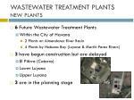 wastewater treatment plants new plants